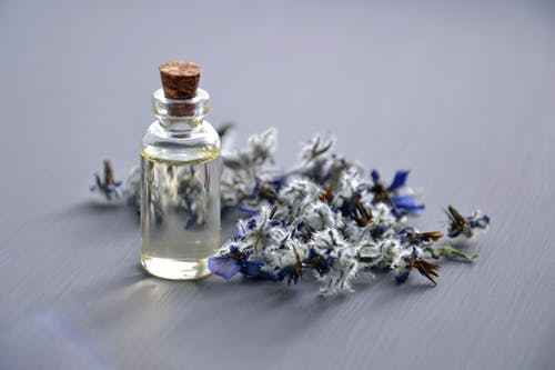 lavender oil in a bottle